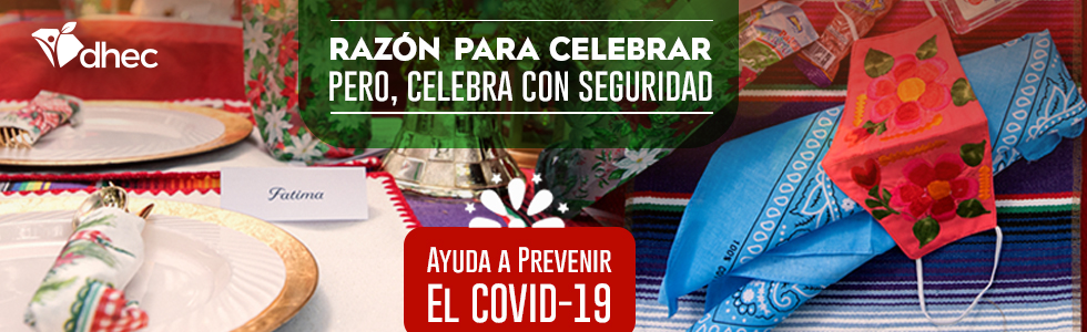 Spanish Holiday Safety Banner with Table Setting and bandanas