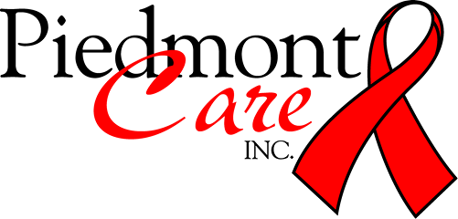 a red ribbon with the words Piedmont Care near it