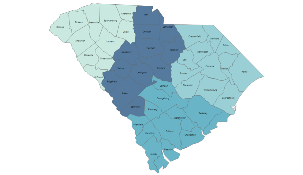 Map of SC Counties