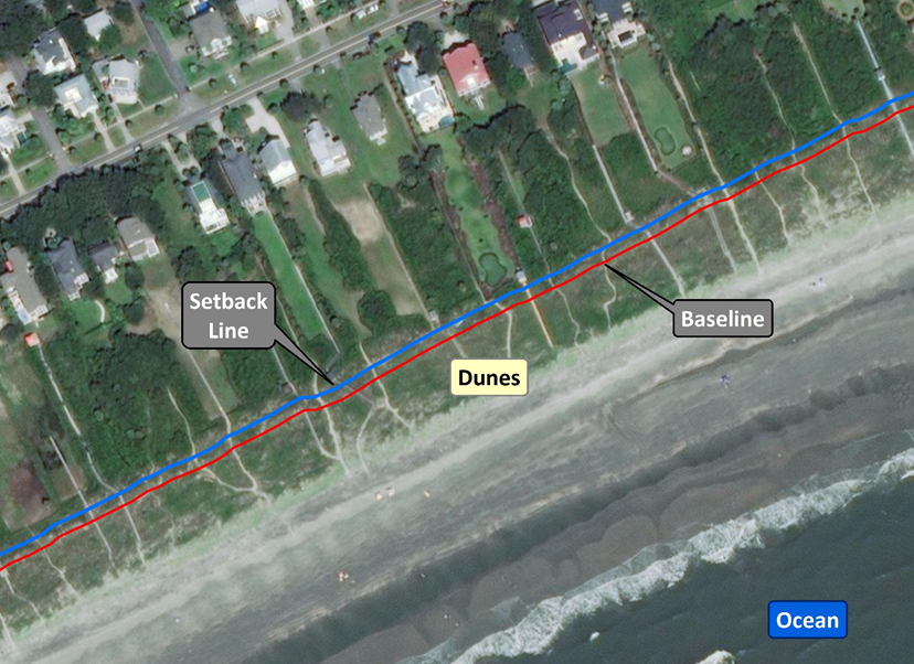 Beachfront Jurisdictional Lines Image - June 25, 2019