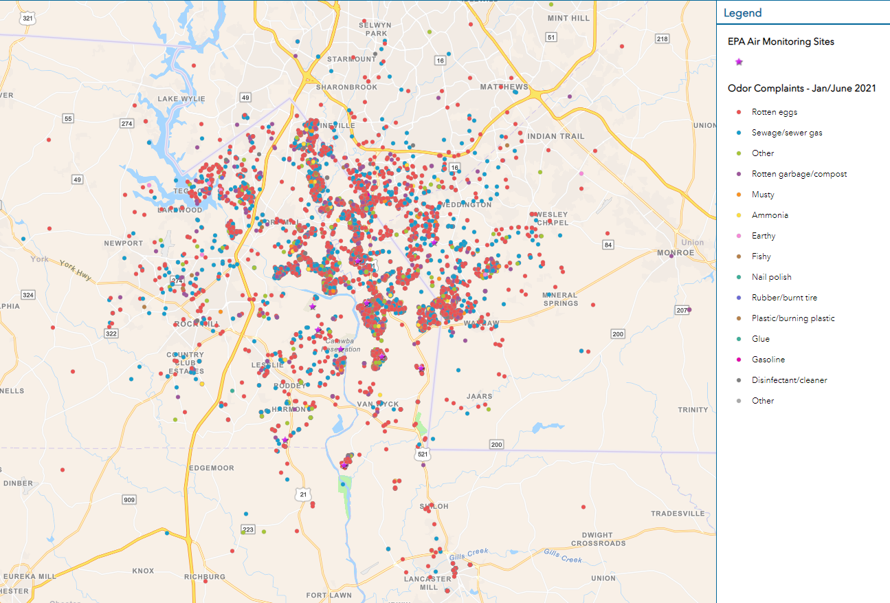 New Indy Community Odor Map through June 23, 2021