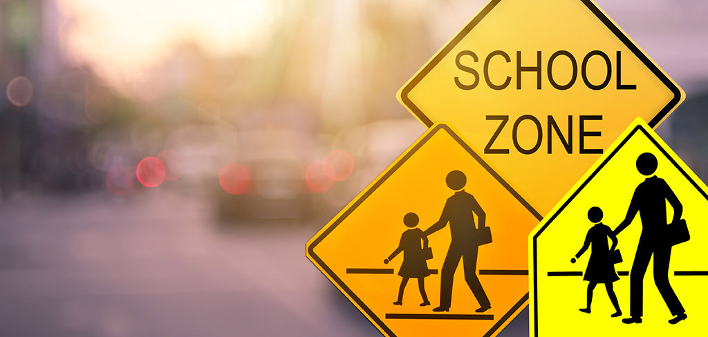 School zone crossing signs