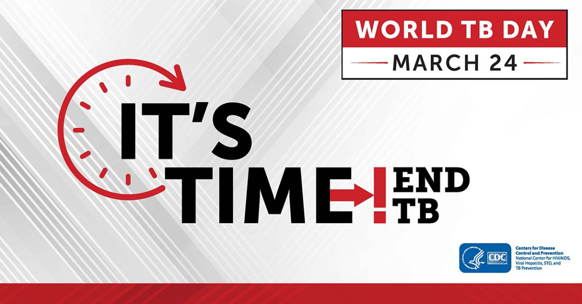 Image of clock - World TB Day March 24, 2019