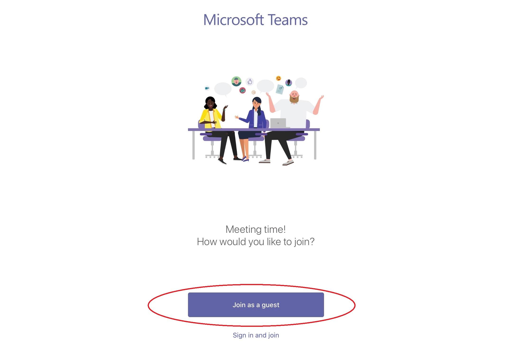 Join Teams App - Step 1