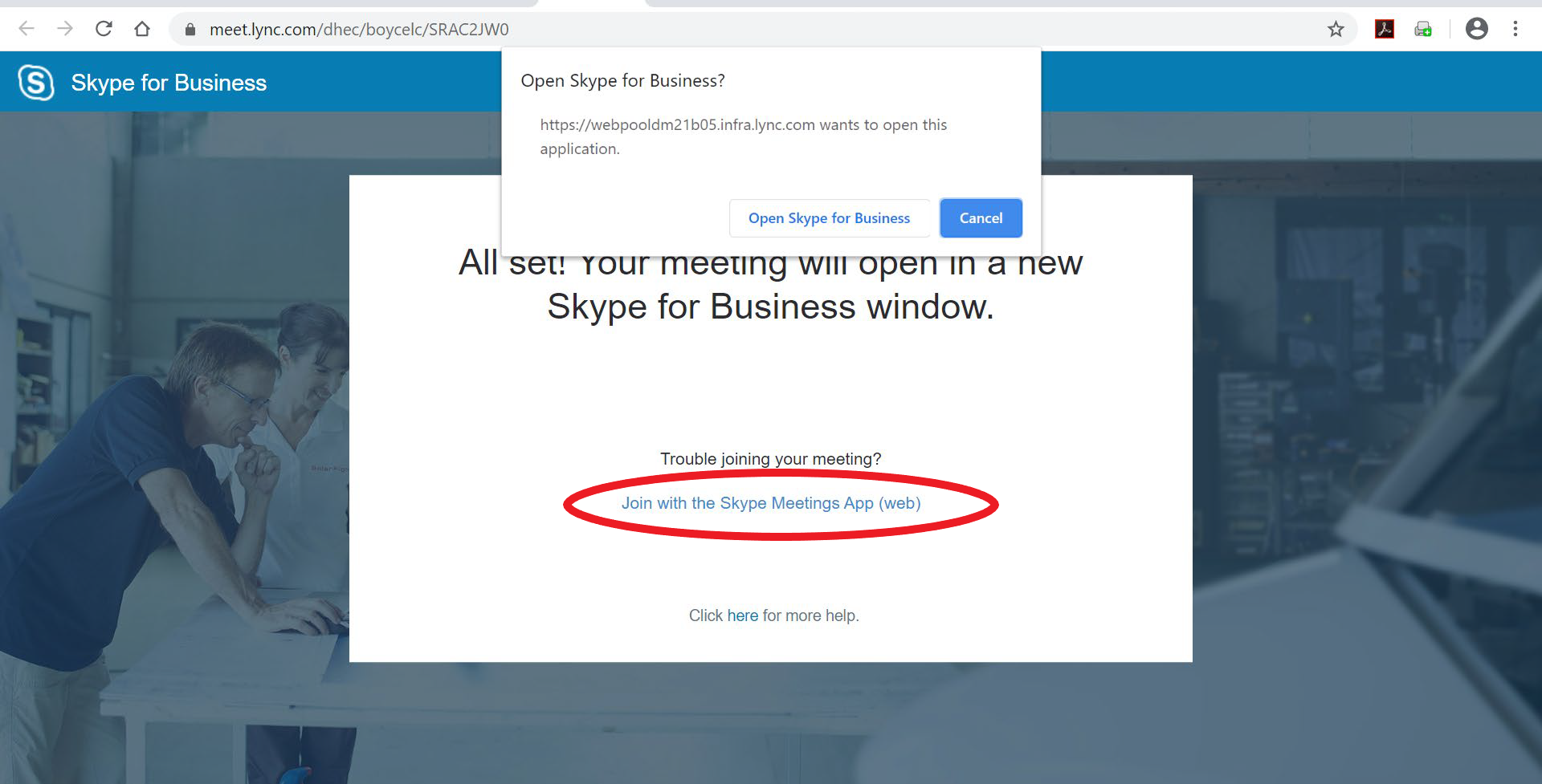Join Skype Instructions - Step 1