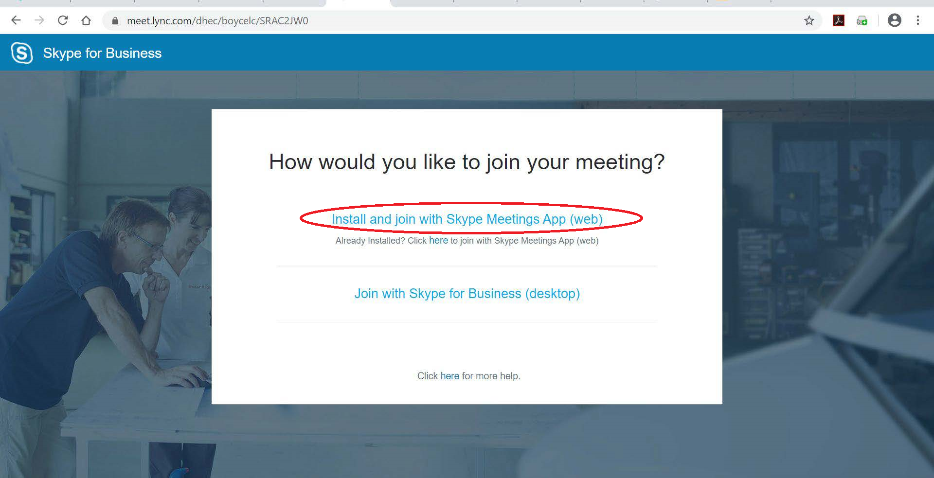 Join Skype Instructions - Step 2