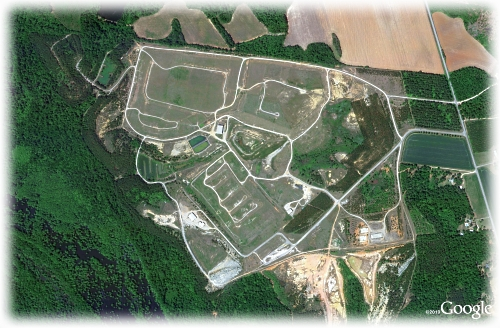 Google aerial map of Pinewood site