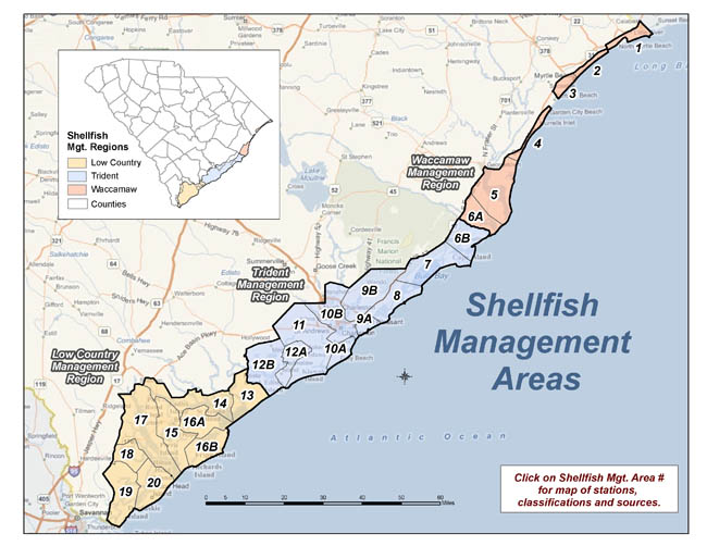 Maps for shellfish management areas
