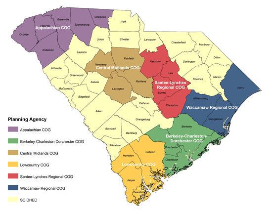 Description: South Carolina Designated Water Quality Planning Agencies