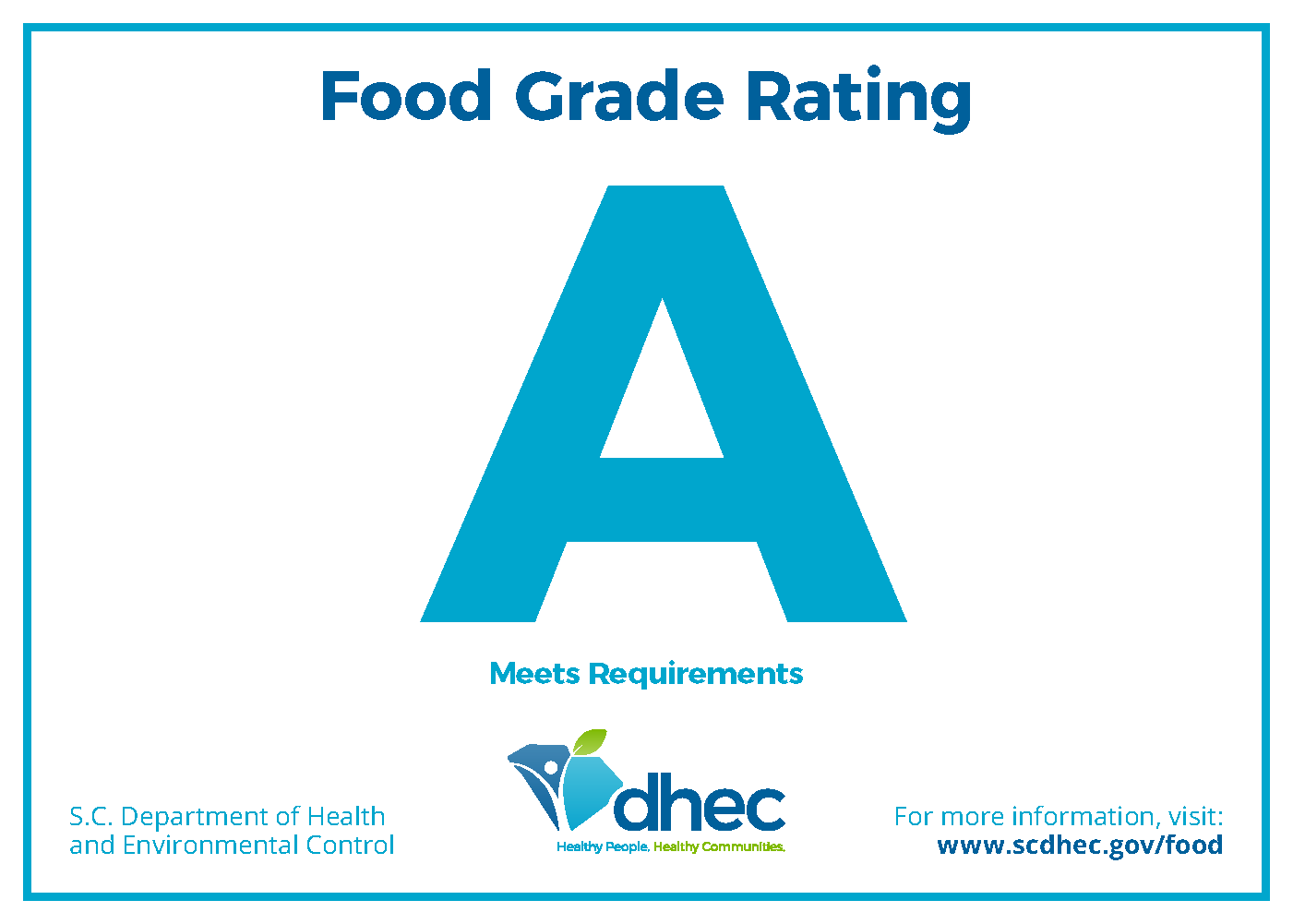 image of Grade A rating